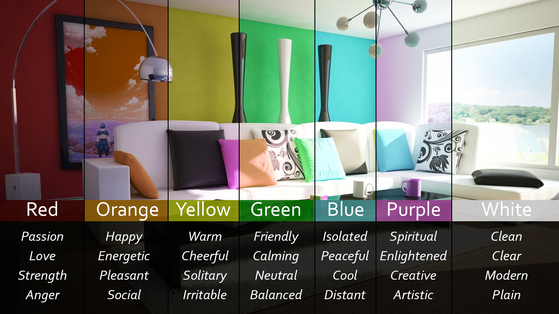 Color Feeling Chart Best Az Feelings Posters In Color And Black And